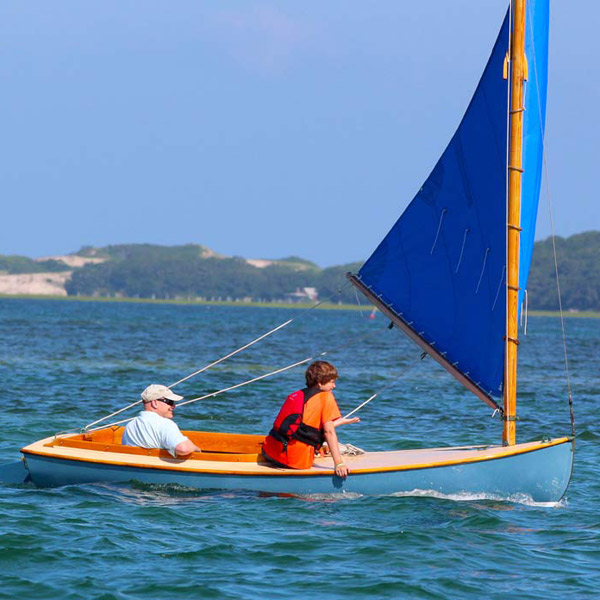 Barnstable Cat Boat under sail